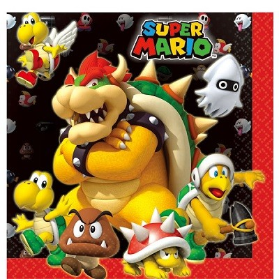 SUPER MARIO BOWSER SERVIETTER