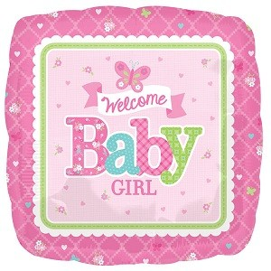 WELCOME BABY GIRL FOLIEBALLONG