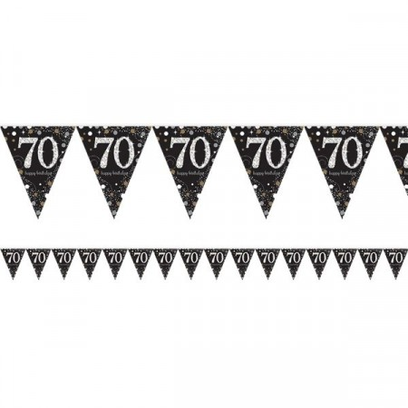 GOLD SPARKLING CELEBRATION BANNER FLAGG 70