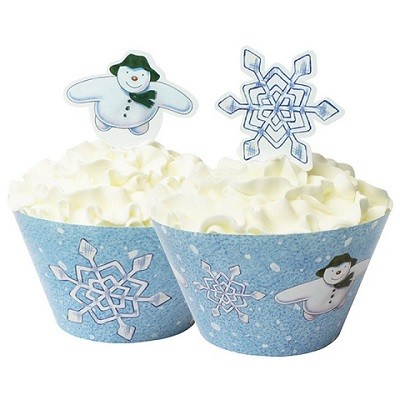 THE SNOWMAN AND THE SNOWDOG CUP CAKE WRAPPERS