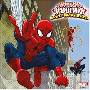 SPIDER MAN SUPER HERO SERVIETTER