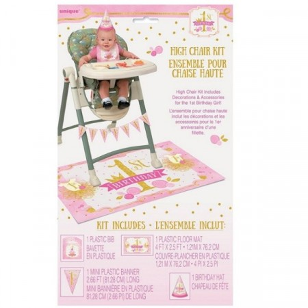 PINK & GOLD 1st BIRTHDAY KIT