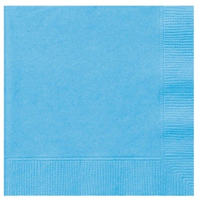 LYSEBLÅ SERVIETTER - POWDER BLUE (50-pk)