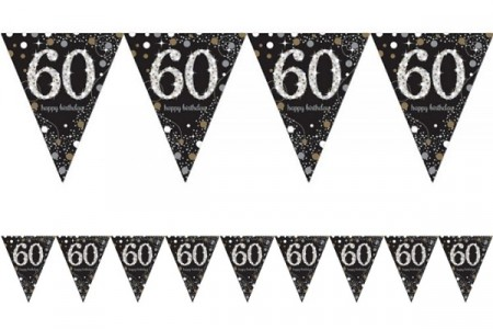 GOLD SPARKLING CELEBRATION BANNER FLAGG 60
