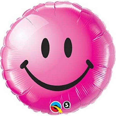 SMILEY FACE FOLIEBALLONG - ROSA