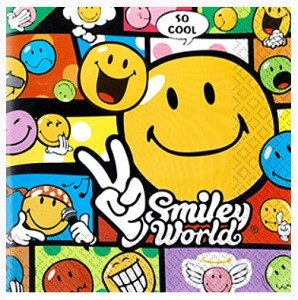SMILEY WORLD SERVIETTER