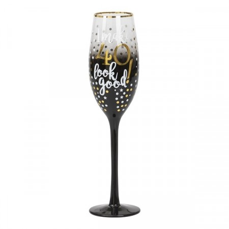 BLACK & GOLD CHAMPAGNEGLASS 40