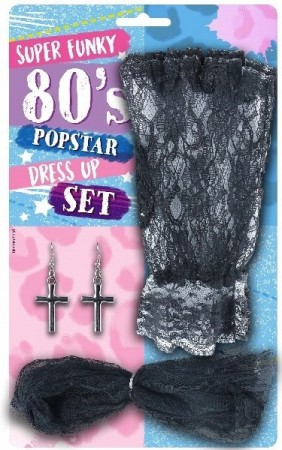 SUPER FUNKY 80´s POPSTAR DRESS UP SET
