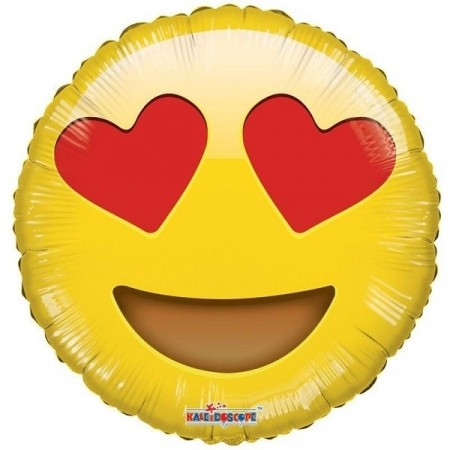 EMOJI IN LOVE FOLIEBALLONG