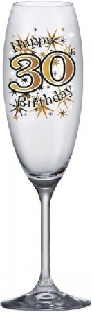 GOLD SPARKLE CHAMPAGNEGLASS 30