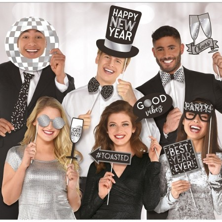 JUMBO NEW YEAR DISCO PHOTO PROPS