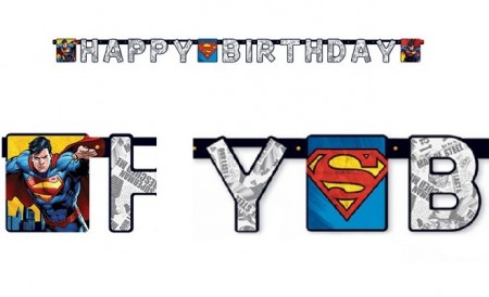 SUPERMANN HAPPY BIRTHDAY BANNER