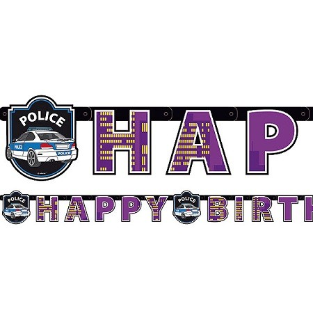 POLITI HAPPY BIRTHDAY BANNER