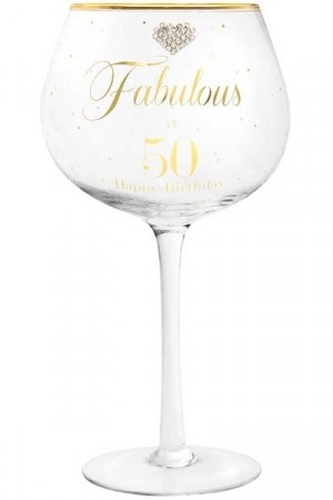 FABULOUS AT 50 GIN GLASS