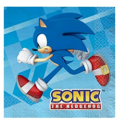 SONIC THE HEDGEHOG SERVIETTER