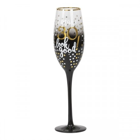 BLACK & GOLD CHAMPAGNEGLASS 30