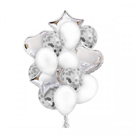 SILVER BALLOON SET