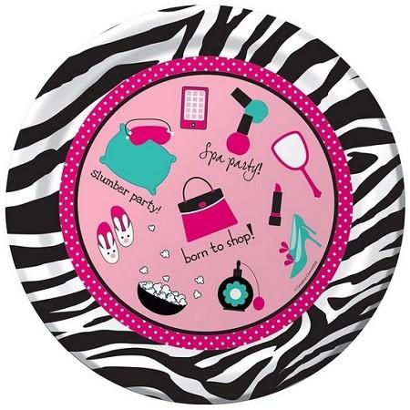 PINK ZEBRA SLEEPOVER PARTY