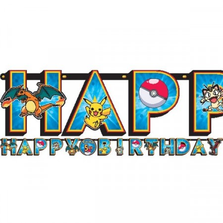 POKEMON HAPPY BIRTHDAY BANNER KIT