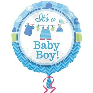 ITS A BABY BOY FOLIEBALLONG