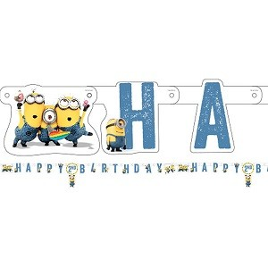 MINIONS HAPPY BIRTHDAY BANNER