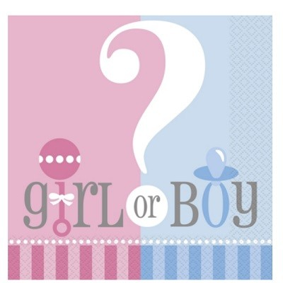GIRL OR BOY? SERVIETTER