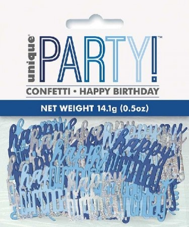 BLUE GLITZ HAPPY BIRTHDAY KONFETTI