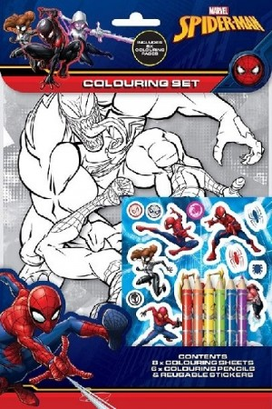 SPIDER MAN TEGNEPAKKE (colouring set)
