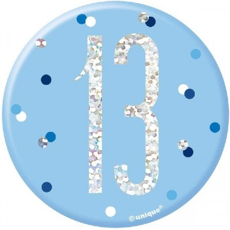 BLUE GLITZ BADGE 13