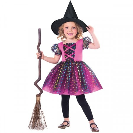 RAINBOW WITCH KOSTYME (3-4 år)