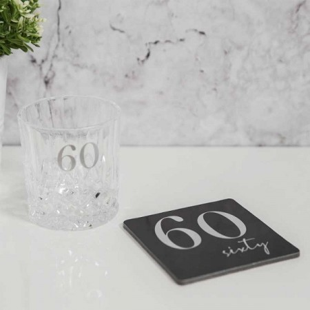 LUXE WHISKY GLASS & COASTER 60