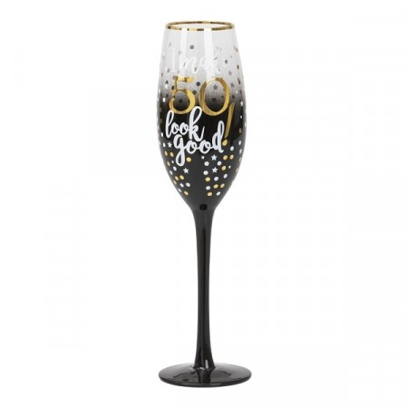 BLACK & GOLD CHAMPAGNEGLASS 50