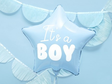 IT'S A BOY STJERNEFORMET FOLIEBALLONG