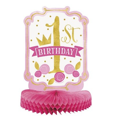 PINK & GOLD 1st BIRTHDAY HONEYCOMB