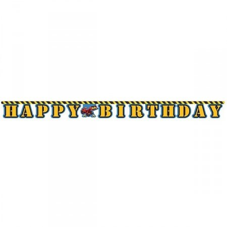 ARBEIDSBILER HAPPY BIRTHDAY BANNER