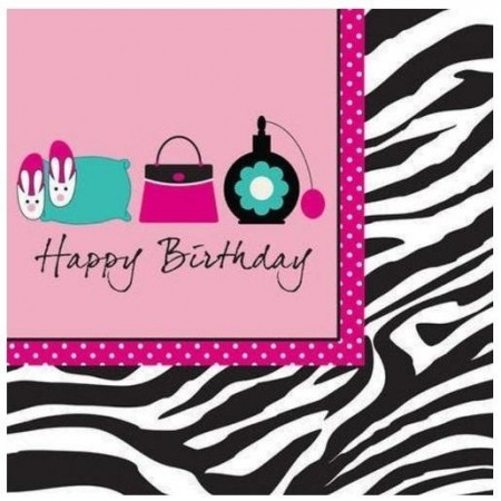 PINK ZEBRA HAPPY BIRTHDAY