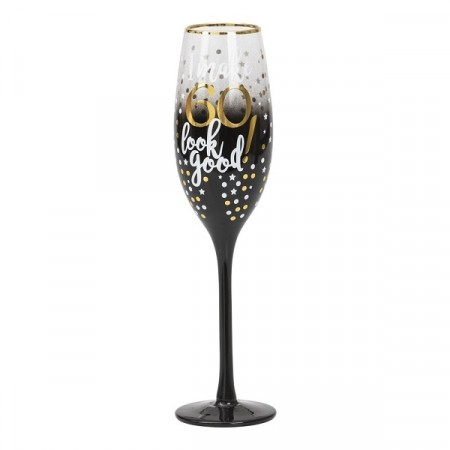 BLACK & GOLD CHAMPAGNEGLASS 60