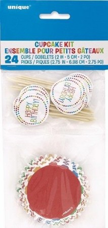 HAPPY BIRTHDAY CUPCAKE KIT (24-pk)