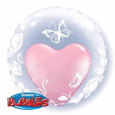 BUTTERFLY DECO BUBBLE BALLOON