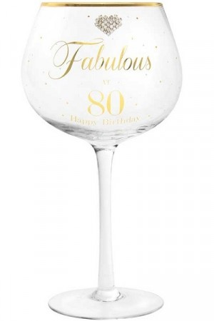 FABULOUS AT 80 GIN GLASS