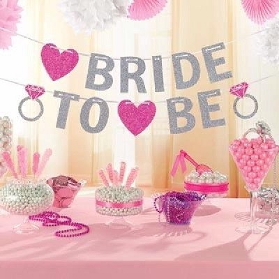 BRIDE TO BE GLITTERBANNER