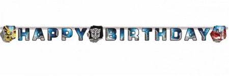 TRANSFORMERS HAPPY BIRTHDAY BANNER