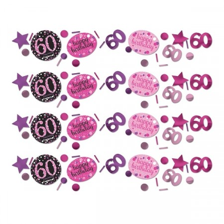 PINK SPARKLING CELEBRATION KONFETTI 60