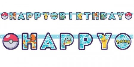 POKEMON HAPPY BIRTHDAY BANNER