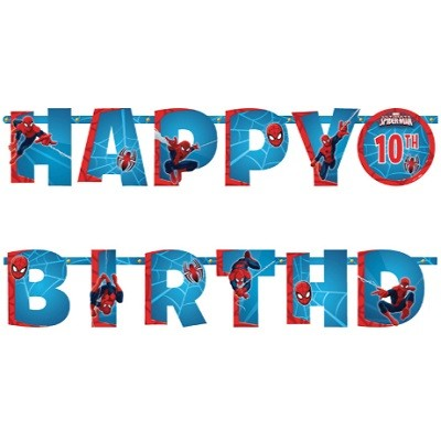 SPIDER MAN HAPPY BIRTHDAY BANNER