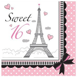 PARTY IN PARIS SWEET 16 SERVIETTER