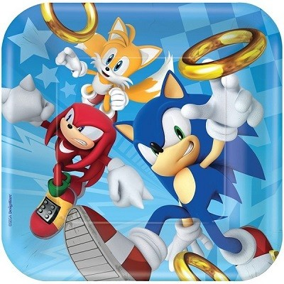 SONIC THE HEDGEHOG KVADRATISKE TALLERKENER