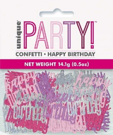 PINK GLITZ HAPPY BIRTHDAY KONFETTI
