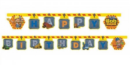 BYGGMESTER BOB HAPPY BIRTHDAY BANNER