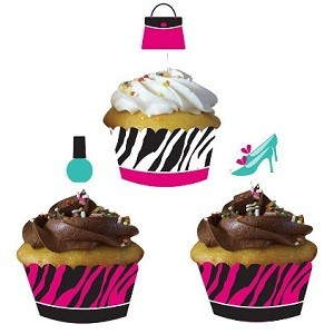 PINK ZEBRA CUPCAKE WRAPPERS